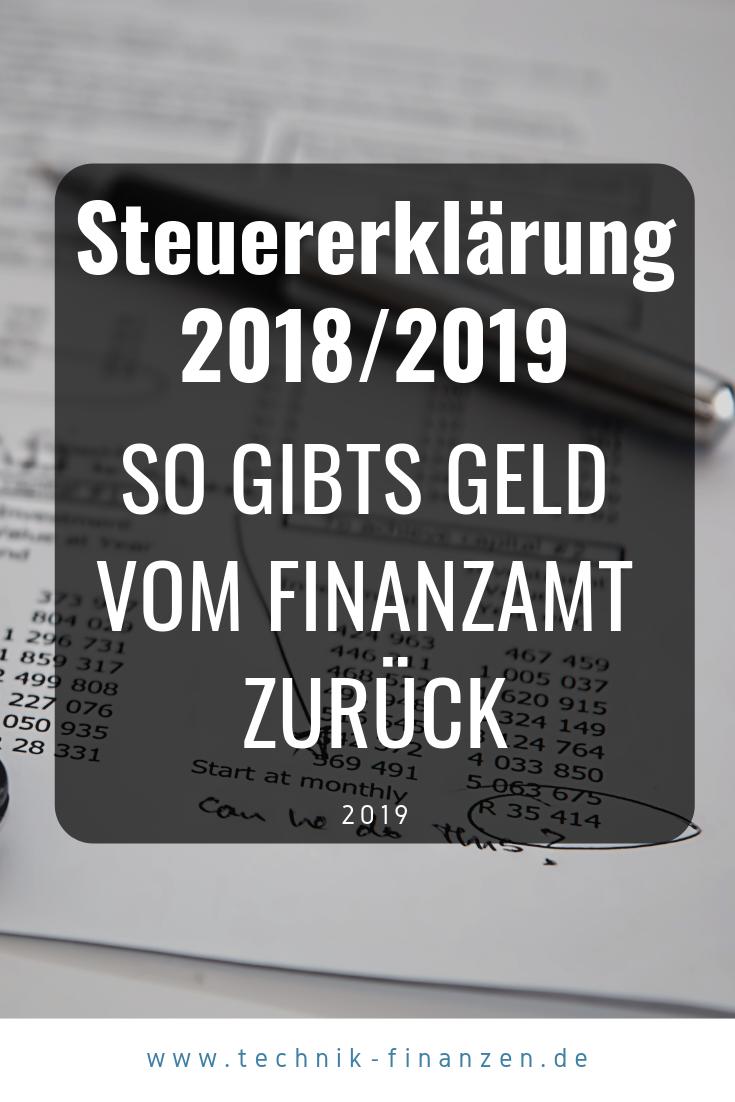 Steuererklarung 2018 Was Kann Man Alles Absetzten Steuererklarung Tipps Finanzen Und Steuererklarung
