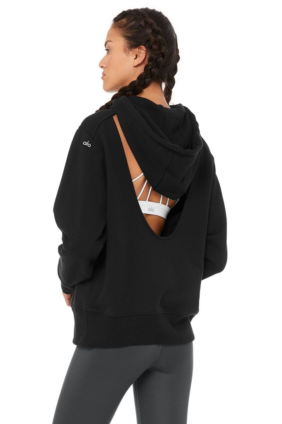 Alo Yoga LIMITED-EDITION EXCLUSIVE CROPPED HOODIE