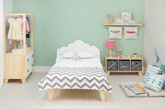 00aff93628 Cama Infantil Nuvem - Cru Fosco e Branco Giz em 2019