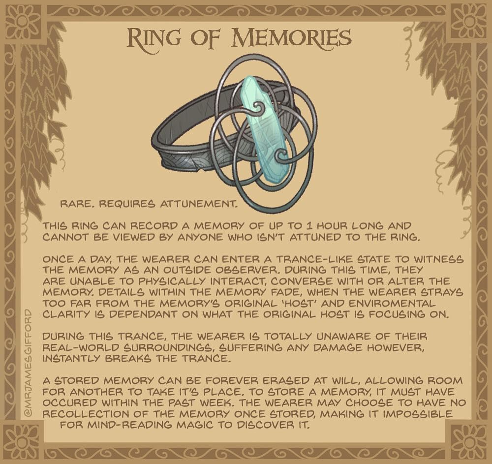 29 Ring Of Memories The Crystal In This Ring Is Almost Ghost Like In Its Transparency Holding It You Feel A Swell Of Nostalgia As You Rollspel Foremal I know that we can use several commands to access and read memory: 29 ring of memories the crystal in