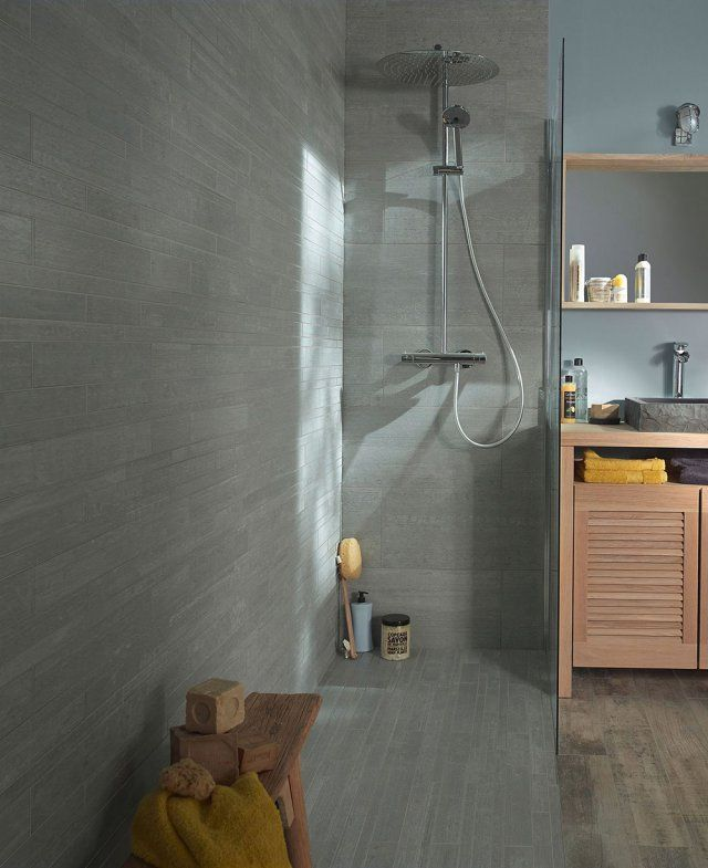 R ussir l 39 agencement de sa douche l 39 italienne salle de bains bathrooms pinterest salle - Douche a l italienne grise ...