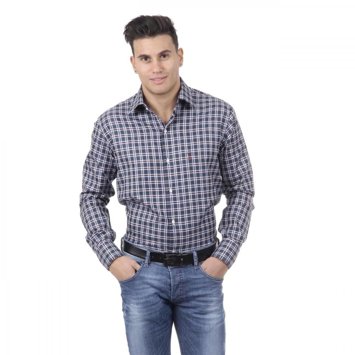 V 1969 Italia Mens Fit Modern Classic Shirt 377 ART. 229. By Versace 19.69 Abbigliamento Sportivo Srl Milano Italia - Details: 377 ART. 229 - Color: Checked - Composition: 100% COTTON - Made: ITALY