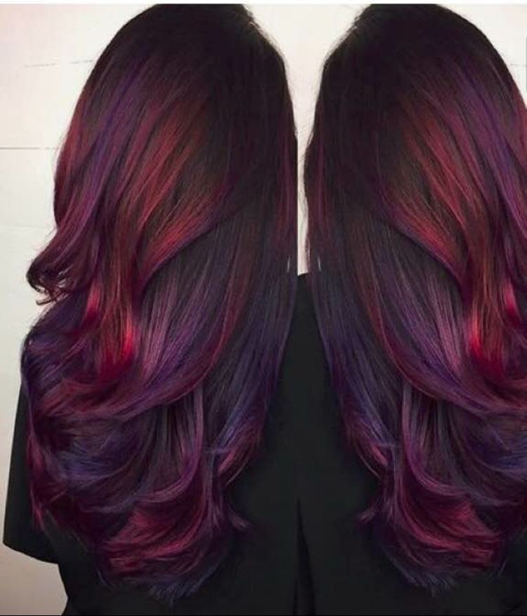 Color Deep Burgundy Deep Copper Hl Hairs Pinterest Deep