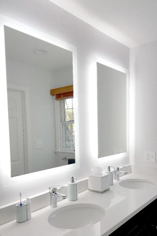 Side Lighted Led Bathroom Vanity Mirror 32 Wide X 48 Tall