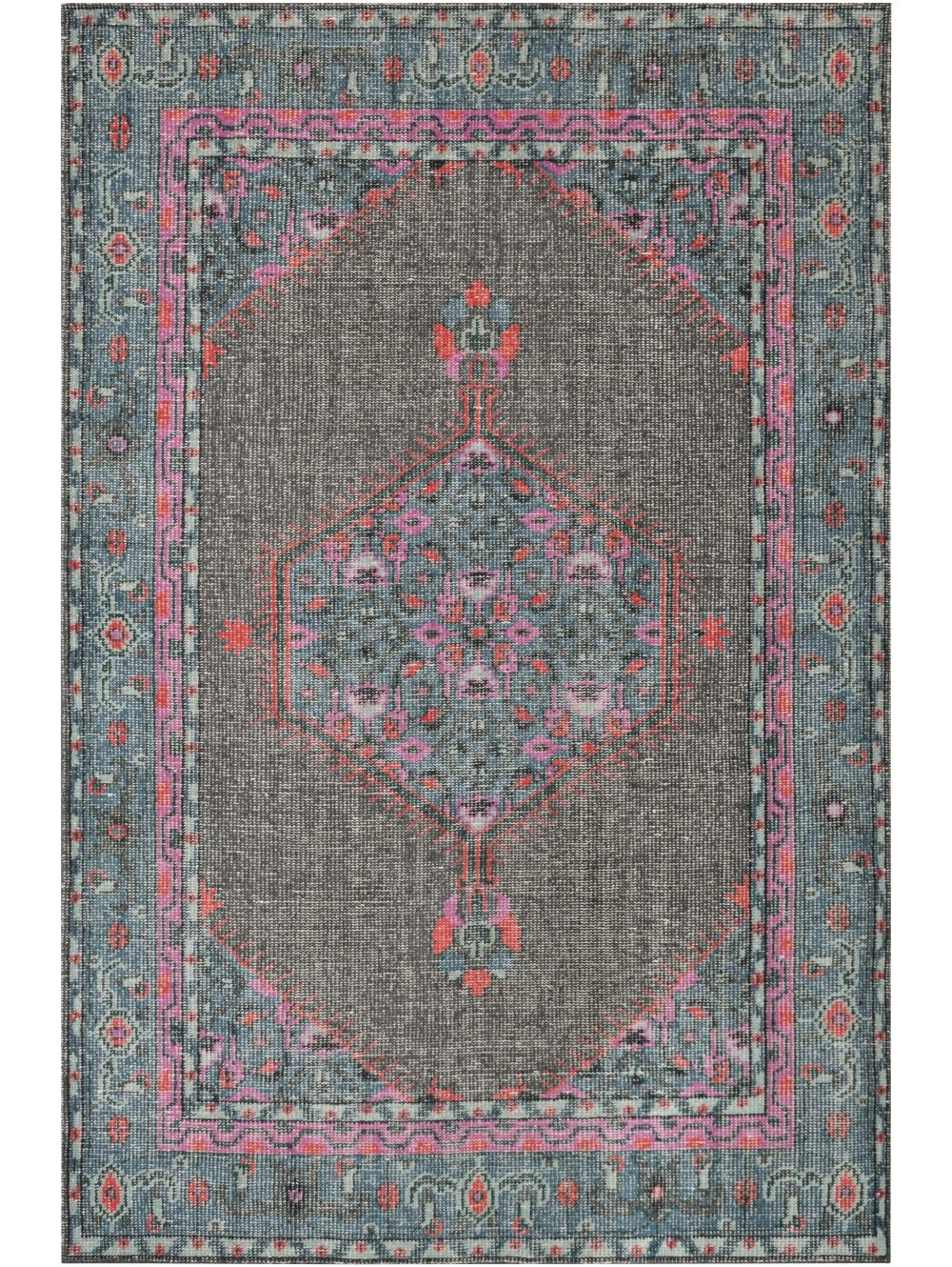 Mirabelle Rug Gray And Teal Traditional Rugs Teal Rug