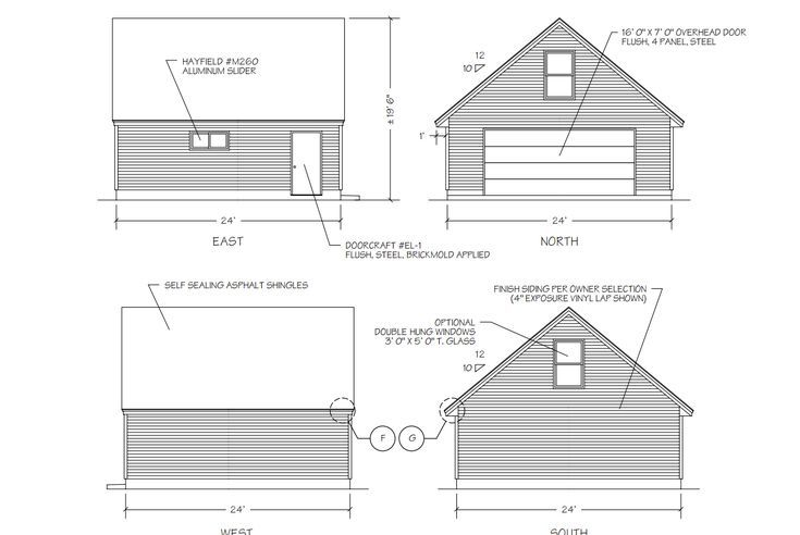9 Free Plans for Building a Garage – Free 24X24 Garage Plans