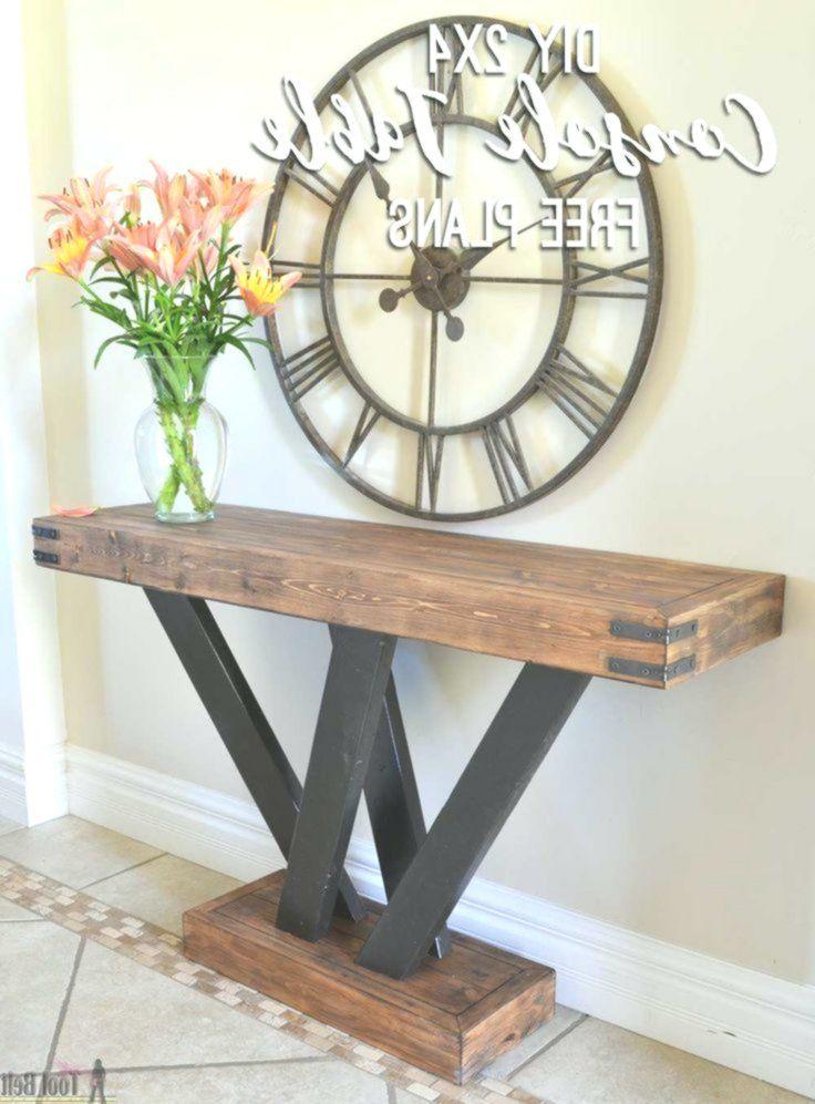 Bauen Sie Einen Rustikalen Konsolentisch Aus Einfachem 2x4 Holz Freie Plane Und Bauanleitung 2x Rustikale Konsolentische Ideen Fur Holztisch Konsolen Tisch