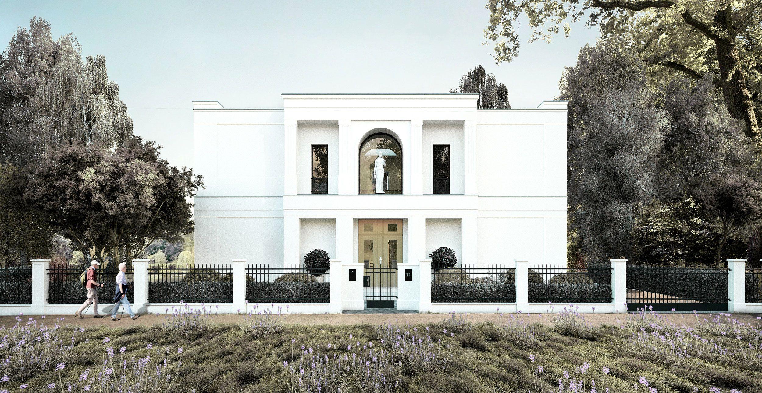 Klassische Villa Neubau neubau einer klassischen villa mit portikus - vogel cg architekten