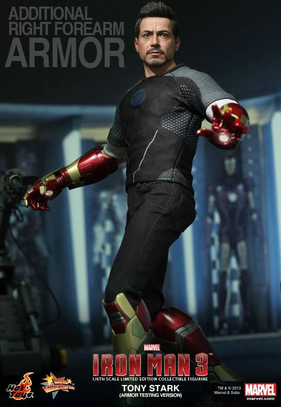 Hot Toys Iron Man 3 TONY STARK Workshop Armor Testing Ver.1//6 IRON MAN HELMET