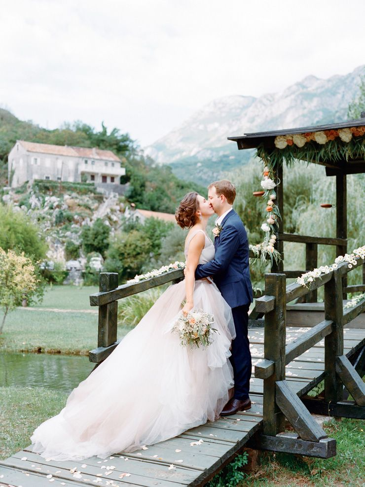 Vera Wang wedding gown for an Intimate and Romantic Montenegro Wedding