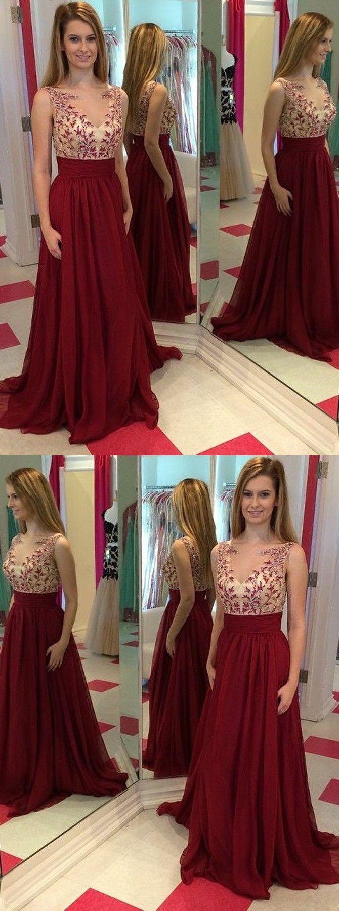 Oneck appliques aline prom dresseslong prom dressesgreen prom