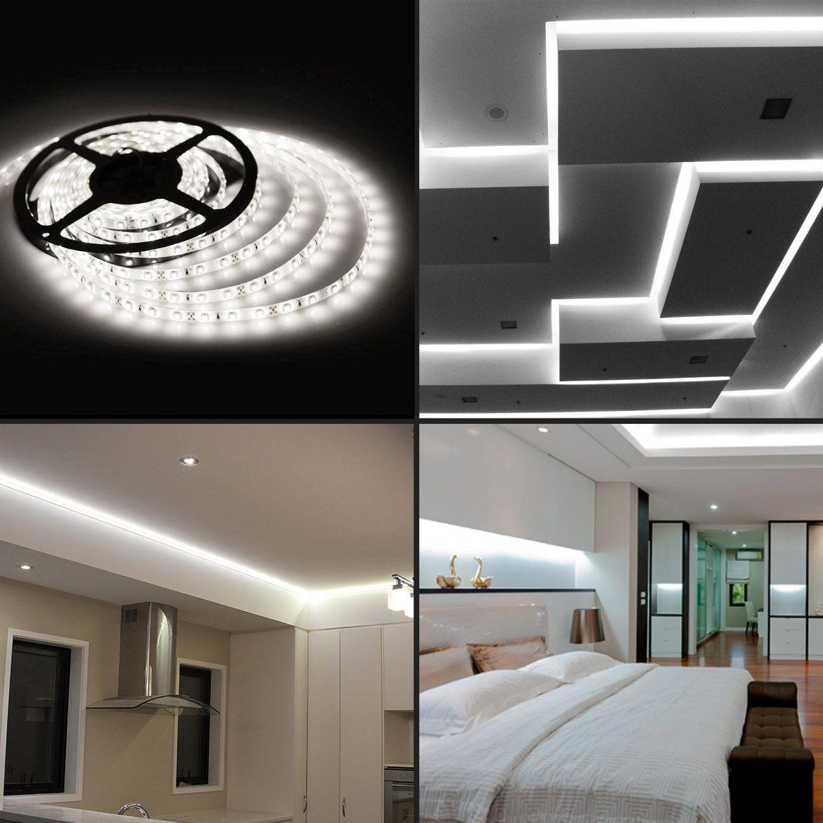 16.4ft Daylight White LED Strip Light, Flexible Waterproof LED Tape Light, SMD 2835 | Strip lighting, Led tape lighting, Led strip lighting