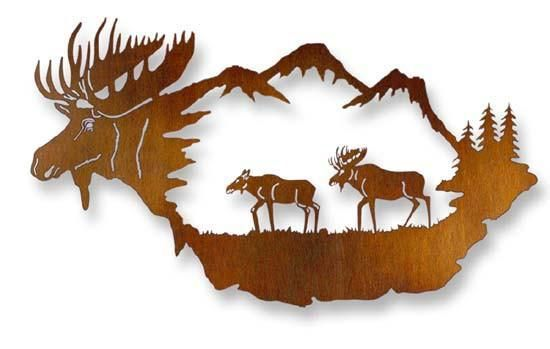 Reflections Of The Wilderness Metal Wall Art Metal Tree Wall Art Tree Wall Art Metal Tree