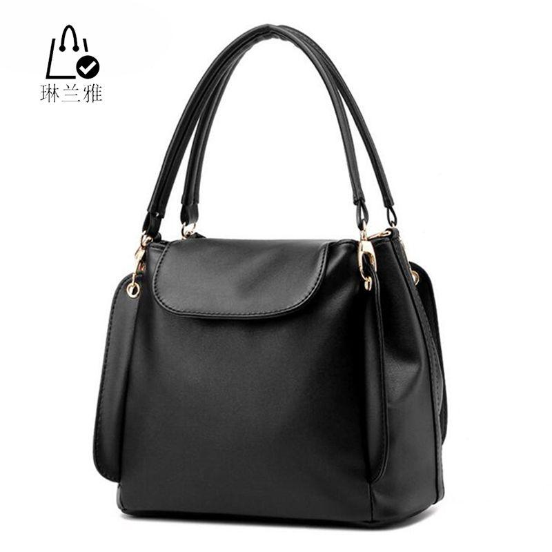 LINLANYA 여성 버킷 가방 여성 가을 여름 스크럽 버킷 가방 여성 pu 핸드백 숙녀 어깨 가방 지퍼 및 걸쇠 가방 Z-31