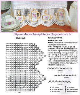 Barrados De Croche Com Graficos Bules E Xicaras N 379 Barrados