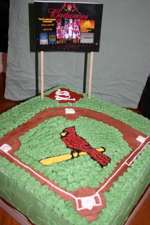 St Louis Cardinals Baseball Key Themed Wedding Cake Topper Garter