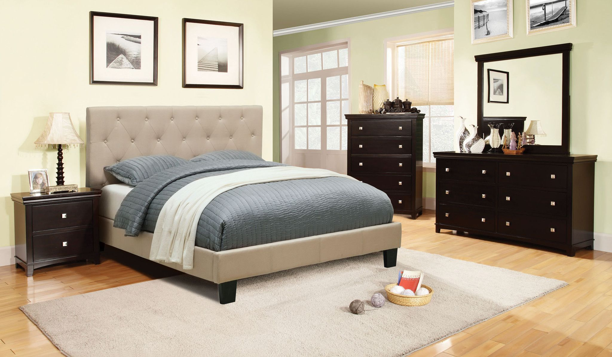 Furniture Of America Ashtra Upholstered Platform Bed With Images