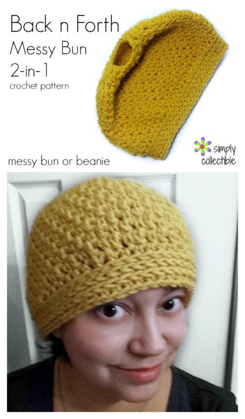 Back n Forth Messy Bun crochet pattern, plus instruction on how to ...