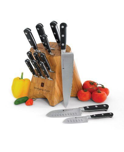 wolfgang puck kitchen knives wolfgang puck 14 piece knife set by wolfgang puck 94 99 german steel full tang forged blades 7155