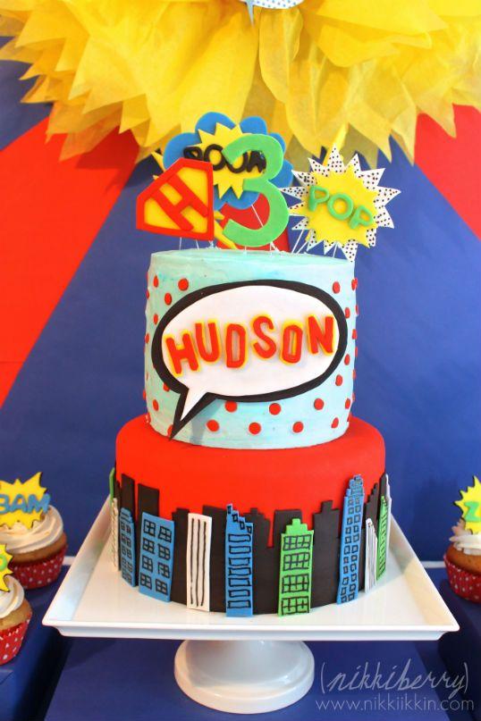 The Party Wagon Blog Superhero Birthday The Cake Superheroes