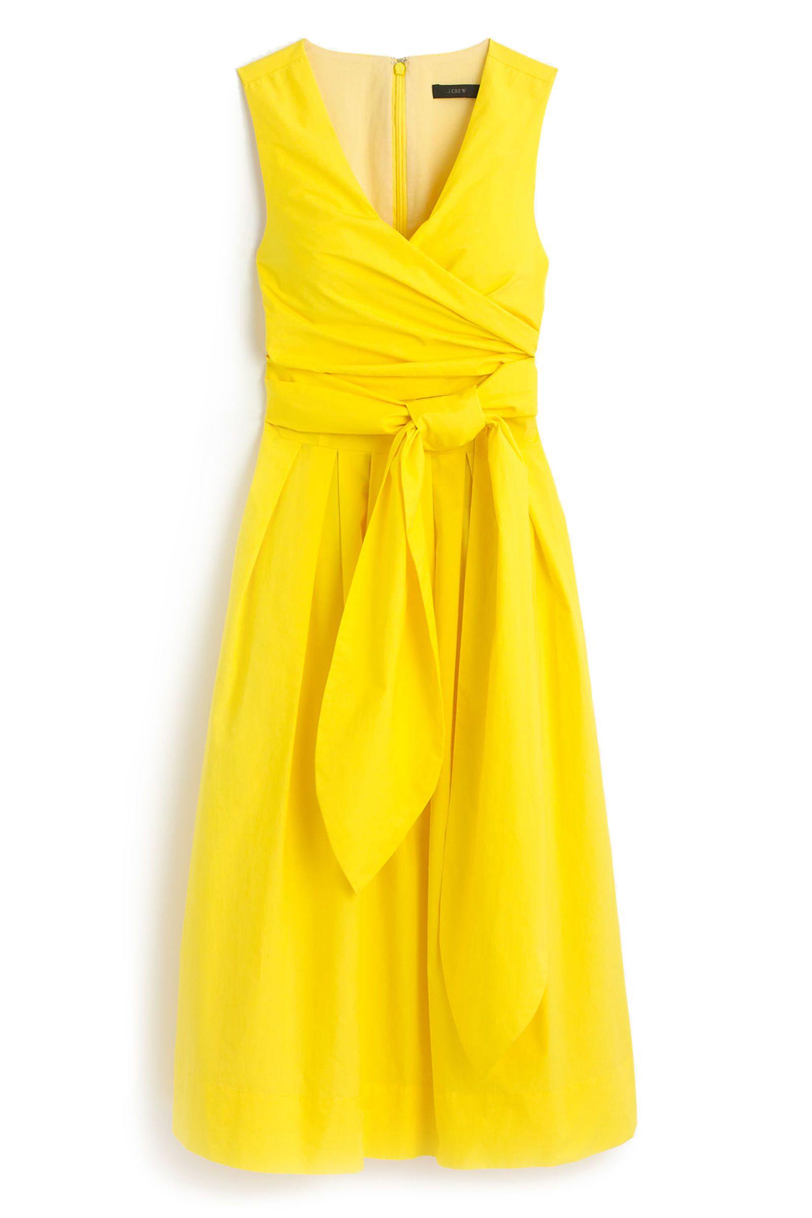 A sunny hue for when you're feeling extra, well, sunny | J. Crew Wrap Dress