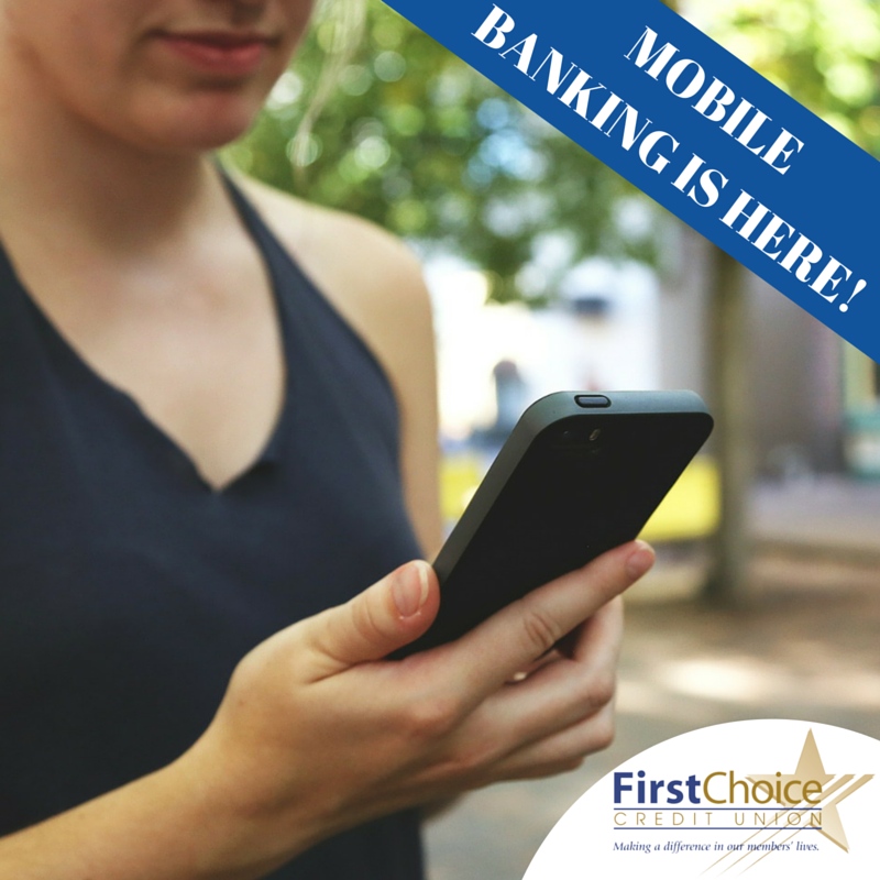 MOBILE BANKING IS HERE! Enjoy the freedom to view account