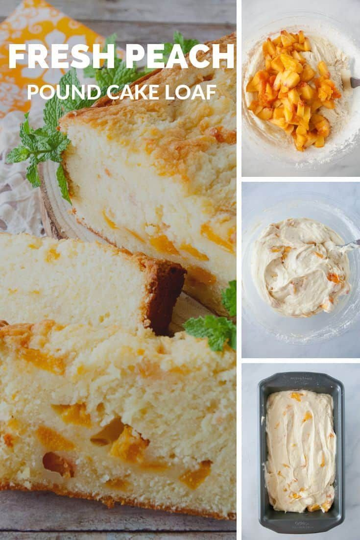 Fresh Peach Pound Cake Loaf #peachcobblerpoundcake If you love fresh peach cobblers or peach pies you'll love my recipe for a fresh peach pound cake loaf!  An easy recipe for a peach dessert you'll love! #peach #cake #dessert #MCO #peachcobblerpoundcake Fresh Peach Pound Cake Loaf #peachcobblerpoundcake If you love fresh peach cobblers or peach pies you'll love my recipe for a fresh peach pound cake loaf!  An easy recipe for a peach dessert you'll love! #peach #cake #dessert #MCO #peachcobblerpoundcake