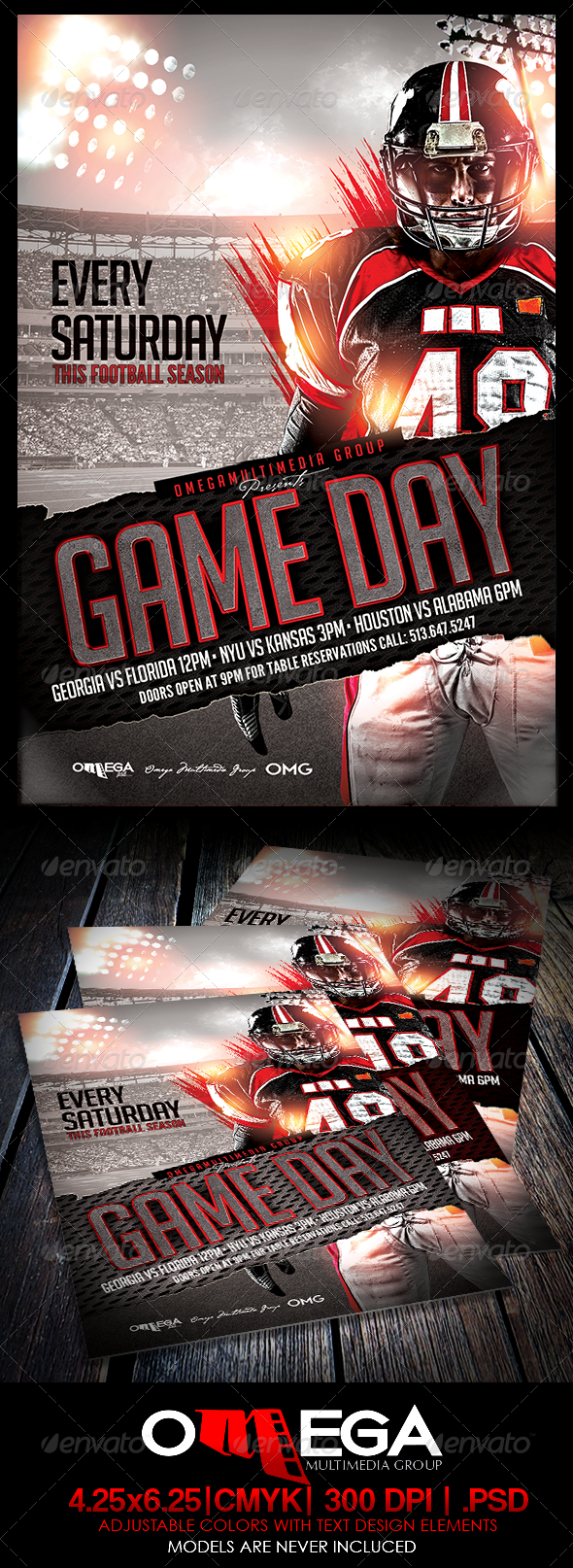 Game Day Print templates, Event flyer templates, Flyer