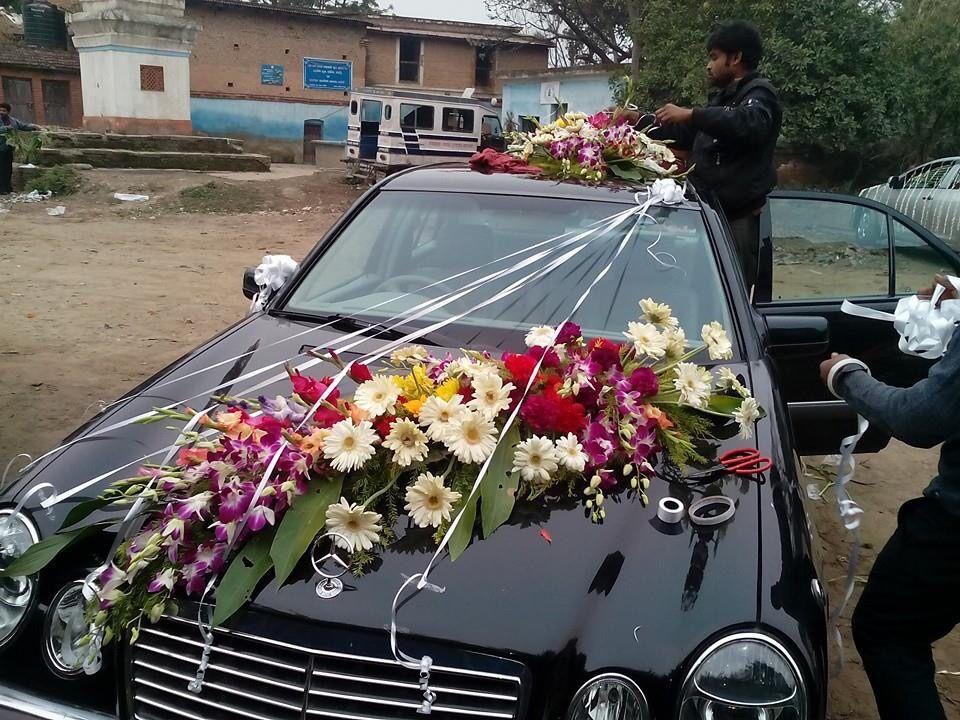Wedding Car Decoration Flower Used Orchid Gerbera Wedding