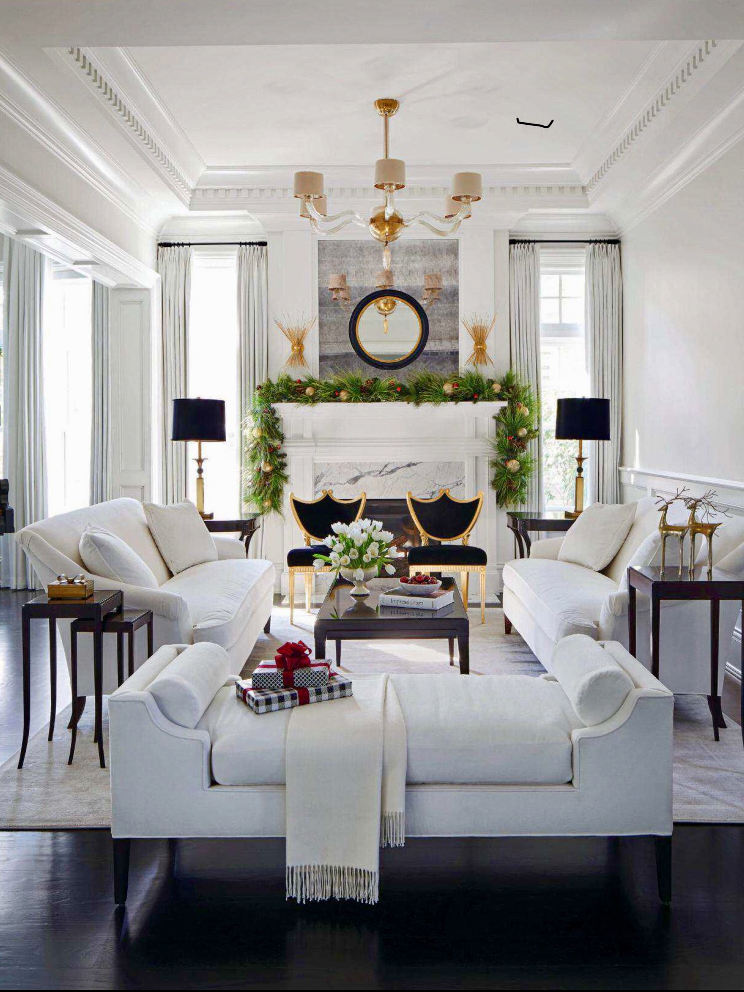 Traditional Living Rooms: Living Room White, Home Decor