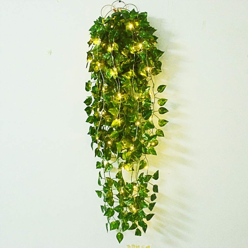 ZeroIn 4 Pack 39 4 Ft Artificial Ivy Garland with Light String Greenery Vine Artificial Flowers Hanging Vine Plant Leaves for Wall Home Decor Wedding Bar Pub Decoration is part of Living Room Plants Vines -  Add charm to your home with ZeroIn 4 Pack 39 4 Ft Artificial Ivy Garland with Light String Greenery Vine Artificial Flowers Hanging Vine Plant Leaves for Wall Home Decor Wedding Bar Pub Decoration from   Home Decor, Living Room, Living Room Decor Category   found by LAVORIST  website with the most stylish pieces of furniture and home decor!