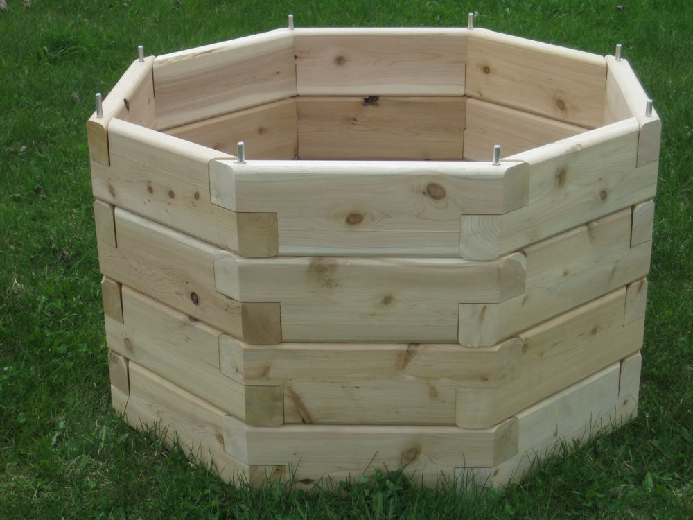 Octagonal raised garden octagon raised garden bed for Garden design kits
