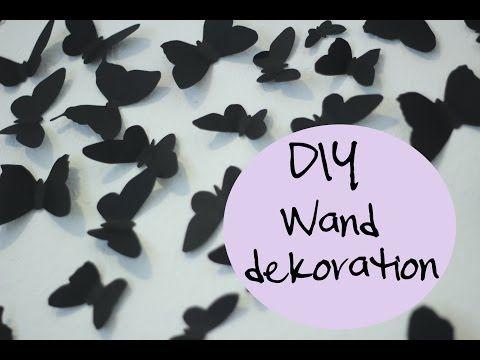 Best DIY Schmetterling Wanddeko inspiriert von Gossip Girl Serena van der Woodsen YouTube