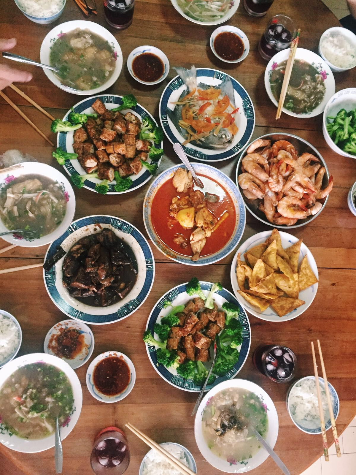 Family lunch Chinese new year food, Football food, Asian