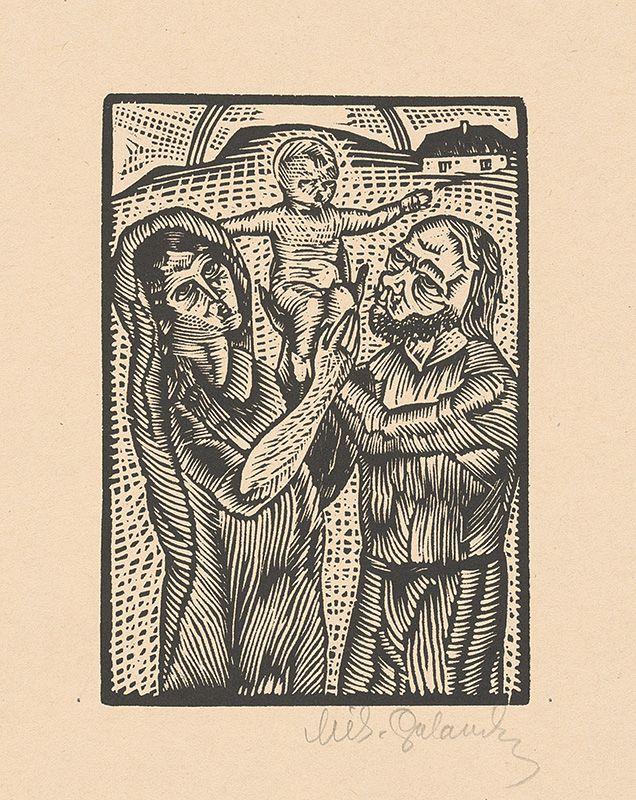 Mikuláš Galanda, Svätá rodina, 1926, drevoryt