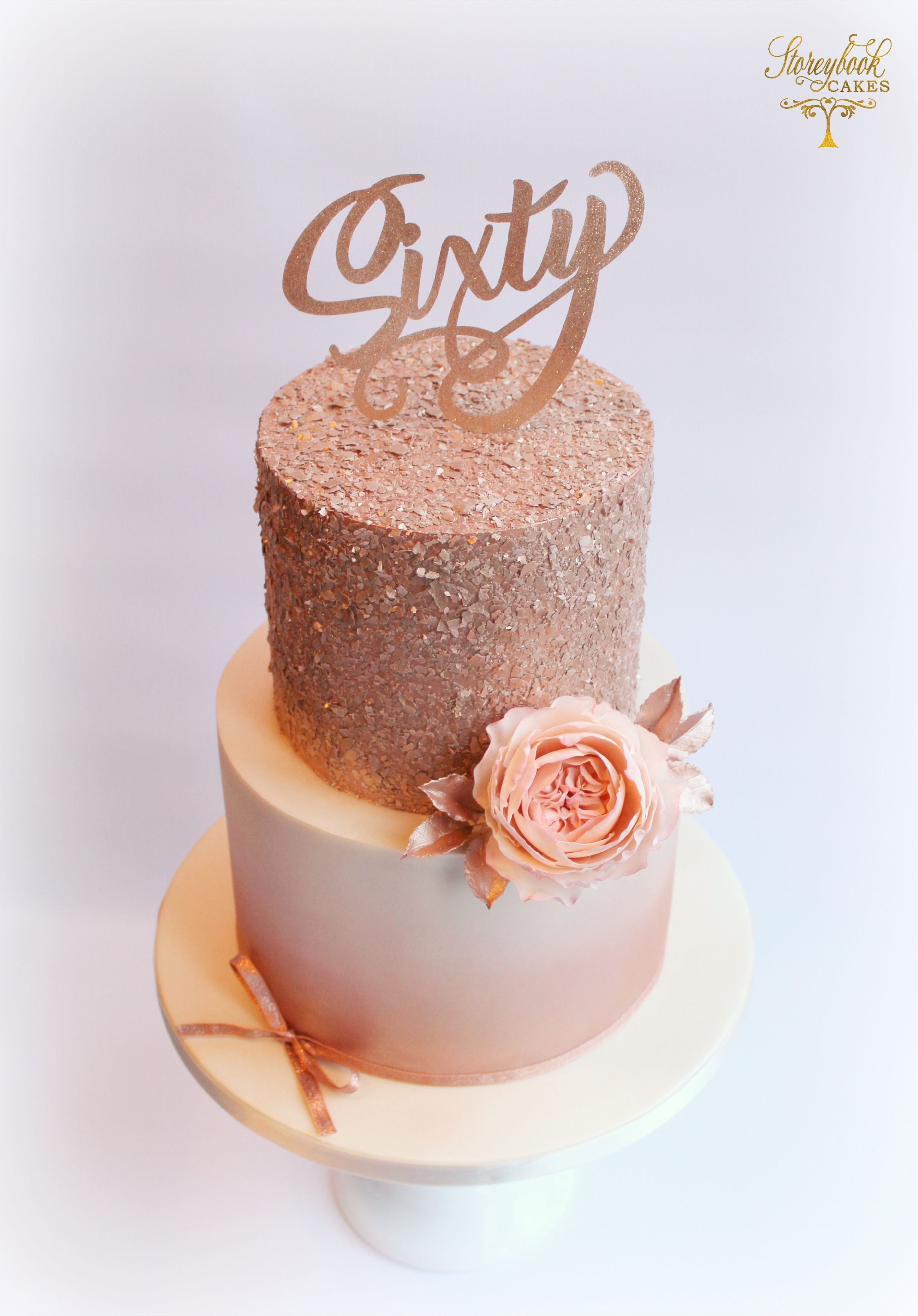 Rose Gold Cake Rose Gold Birthday Cake Glittery Birthday