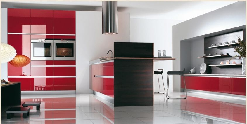 kitchen mobalpa red kitchen red kitchen appliances uk from Red ...