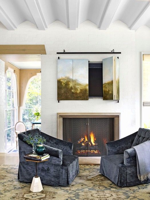 41 Beautiful Living Room With Fireplaces | Small living ...