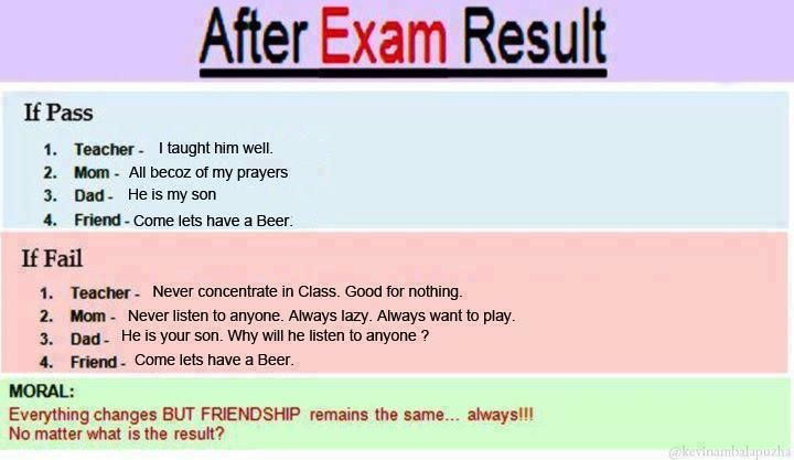 After Exam Result Exam Quotes Exam Results School Quotes Funny
