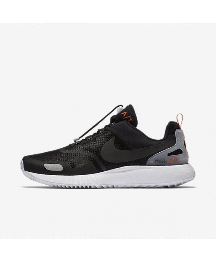 Nike Roshe Course Mens Marques De Chien Cochés En Noir Et Blanc