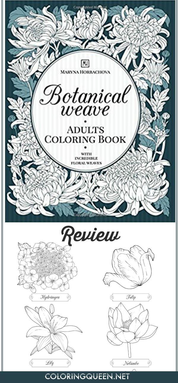Botanical Weave Coloring Book Review | Colorear, Me gustas y Libros
