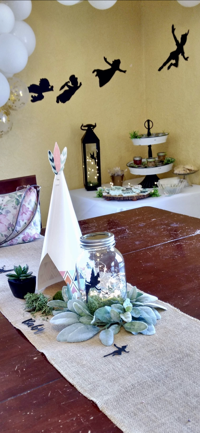 Neverland Teepee Table Decor For Peter Pan Party Boy Birthday Decorations Boy Baby Shower Themes Peter Pan Party