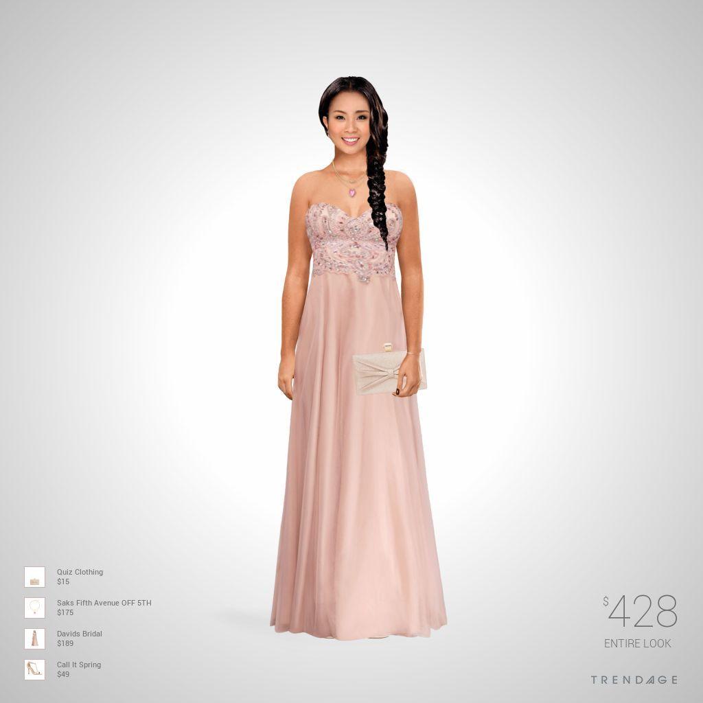 Traje de moda hecho por Samira LA usando ropa de Saks Fifth Avenue OFF 5TH, Davids Bridal, Call It Spring, Quiz Clothing. Estilo hecho en Trendage