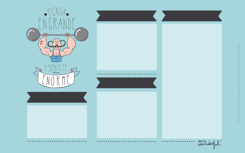 Fondos de escritorio mr wonderful un fondo de pantalla for Planificador habitaciones