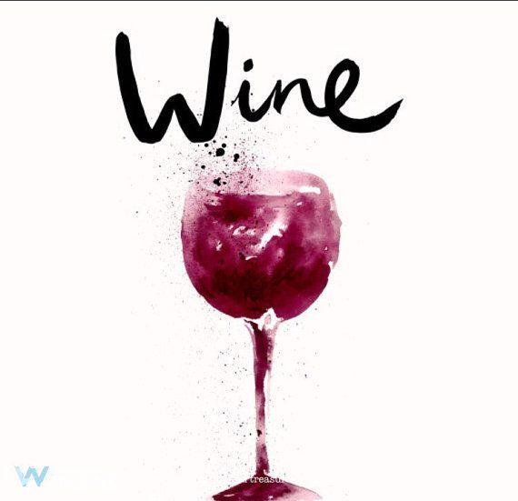 Wine Digital Print Wine Art Print Wine Par