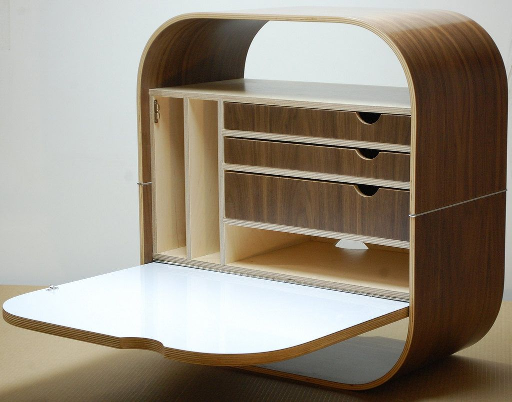 Camille Wall Desk Mounted Laptop Cabinet By Vurvdesign Designer Glenn Ross