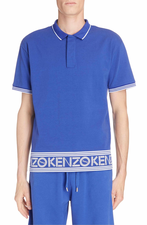 8f3e8fbd Main Image - KENZO Logo Hem Tipped Polo   polo shirts in 2019   Polo ...