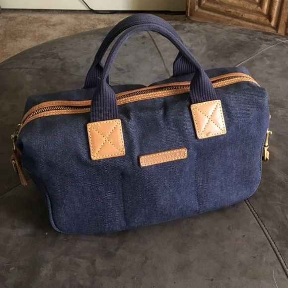 Dooney And Bourke Denim Handbag Authentic Like New No Rips Stains Strap Can Be Used As Crossbody 9x7x5 Super Cute Summer Bag