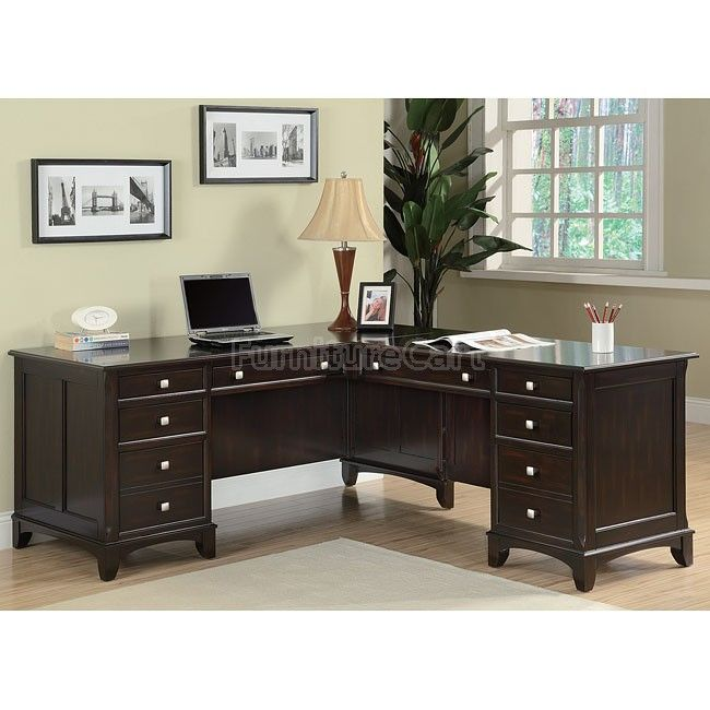 Garson Home Office Set w/ L-Shape Desk Office set, Desks and Shapes