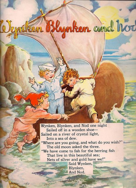 Wynken Blynken And Nod Page 1 Nursery Rhymes Poems Childrens Poems Childrens Stories